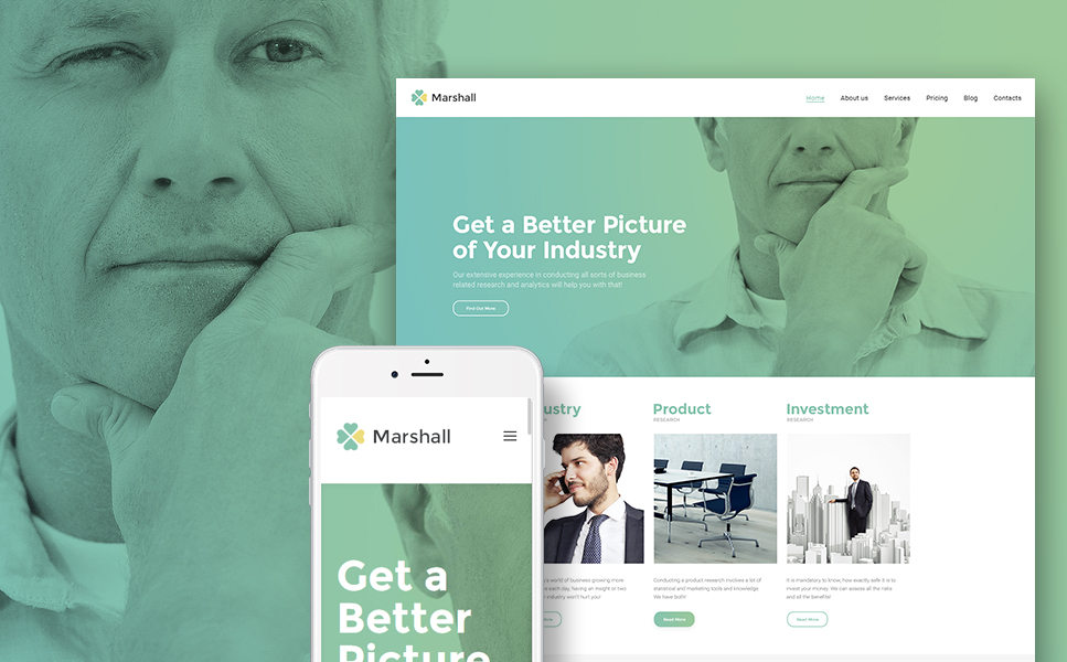 Marshal - Business Analysis and Market Research Agency WordPress Theme